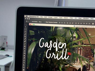 Garden Grill Restaurant logo and website design restaurant website logodesign logo ui