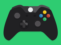 Flat Xbox One Controller Icon