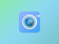 Flatish Camera Icon