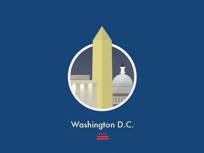 Washington D.C. Flat Badge