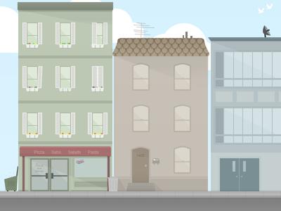 Street Corner Illustration