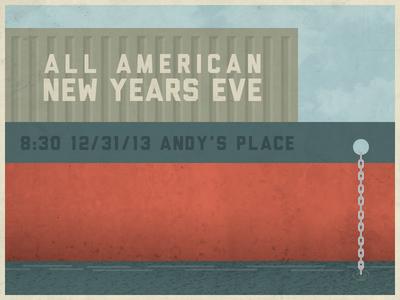 New Years Ship Illustration