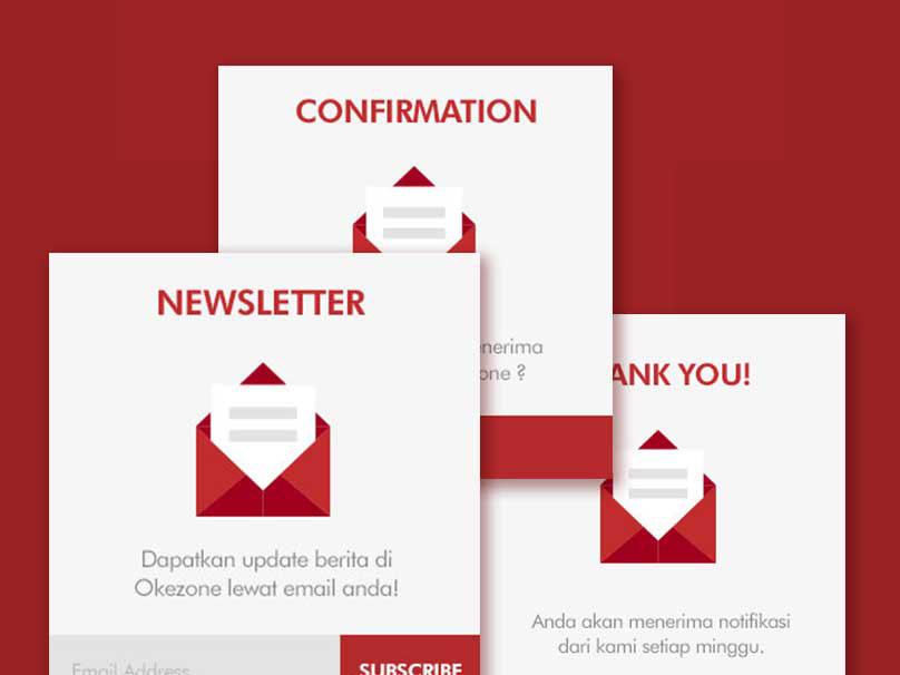 Subscribe Widget For Okezone.Com widget newsletter subscribe