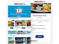 Okezone Anniversary Mobile Coupon Concept.