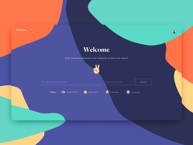 Welcome · Search inclusion search web ui ux design