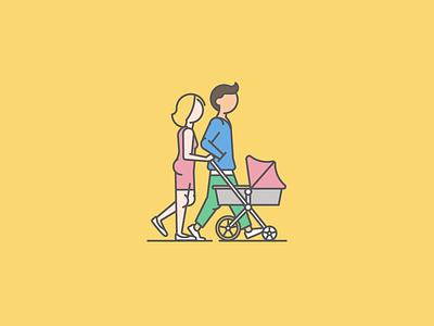 New Yorker walk family