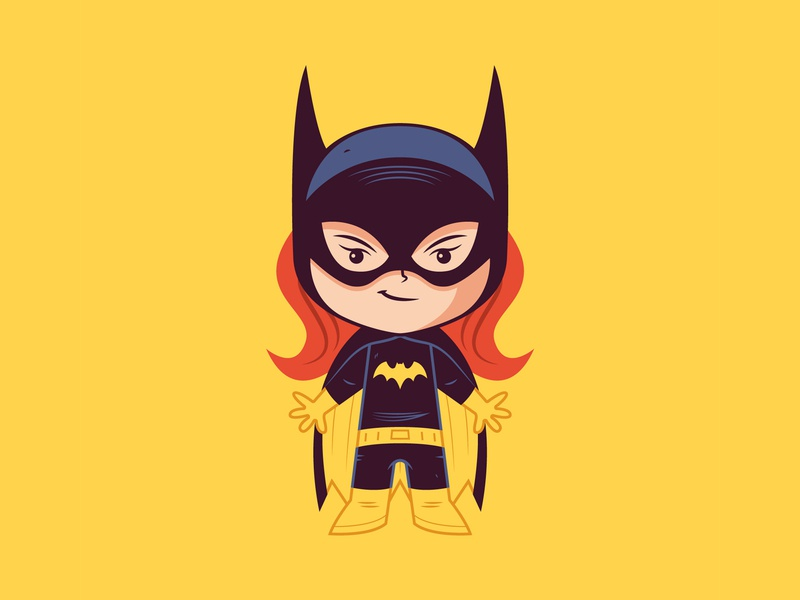 Little Batgirl dccomics sticker badge logo illustration