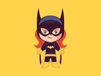 Little Batgirl dccomics sticker badge logo illustration