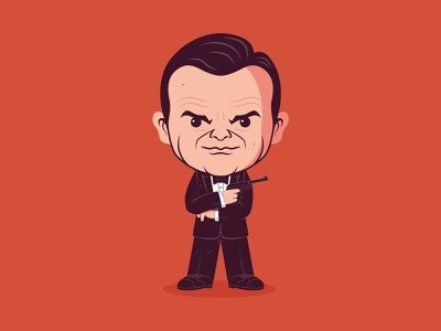 From Russia with Love sean connery 007 james bond sticker illustration