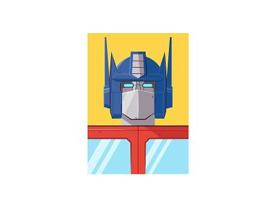 Optimus Prime transformers vector illustration