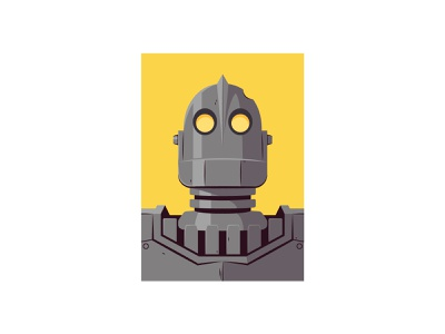 Iron Giant the iron giant vector illustration