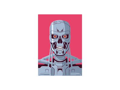 Terminator t800 terminator vector illustration