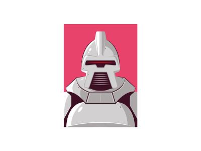 Cylon battlestar galactica vector illustration