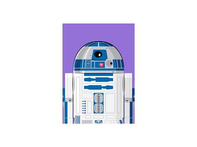 R2-D2 star wars vector illustration