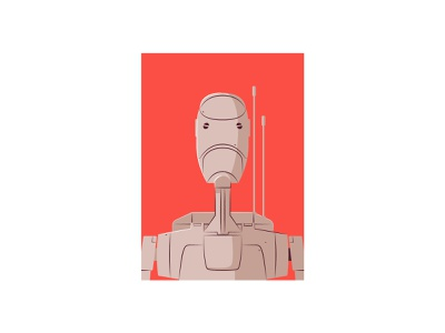 Battle droid star wars vector illustration