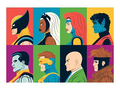 X-men Characters Part 1. x-men marvel vector illustration