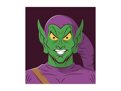 Green Goblin spider-man marvel vector illustration