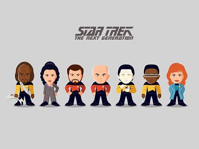 Star Trek The Next Generation Minis star trek vector illustration