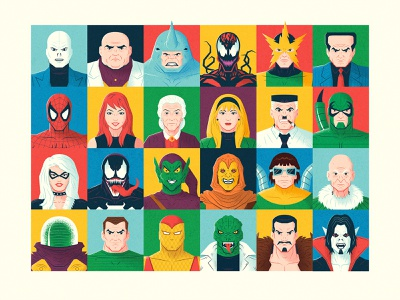 The Amazing Spider-Man roster marvel spider-man vector illustration