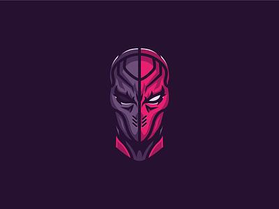 Deathstroke slade wilson deathstroke vector batman logo badge illustration