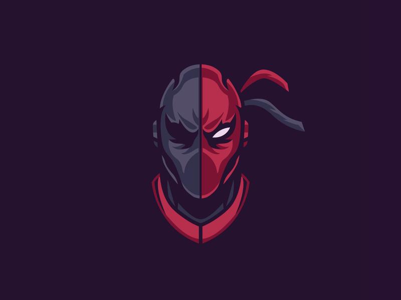 Deathstroke ver. 2 deathstroke sticker batman logo badge illustration