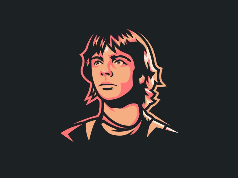Luke Skywalker luke skywalker a new hope vector star wars sticker logo badge illustration