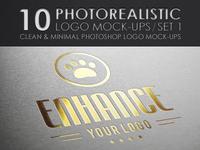 10 Photorealistic Logo Mock-Ups / Set 1