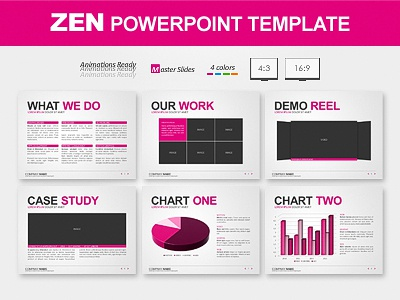save slide master as template - zen powerpoint template by ricard dribbble