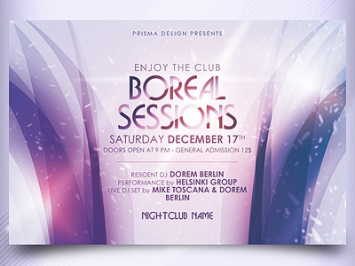 Boreal Sessions Flyer