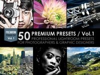 50 Premium Lightroom Presets / Vol.1