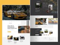 Super Cars and Hotels Blog WordPress Web Design supercars cars blog webdesign ui ux design