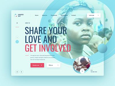 Charity Foundation WordPress Web Design africa header sneakpeak foundation charity web ui webdesign design
