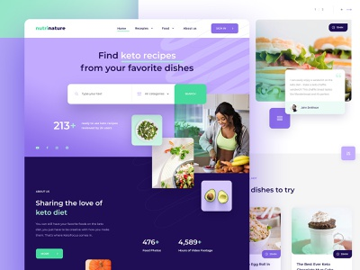 Nutrition Food Company Website karbowska seahawk recepies diet keto ui webdesign design