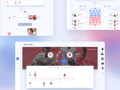 LineUp  App - The  Match Details objectivity line-up fans sport dashboard timeline app soccer football match