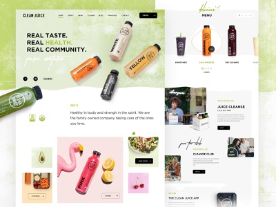 Clean Juice Website webdesign website web fruits vegetables health bowls juice