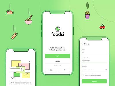 Foodsi App - Log in or sign up! objectivity log in sign up flutter app foodsi