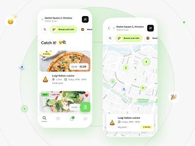 Foodsi App - Choose the packs objectivity feed map list foodsi app ui
