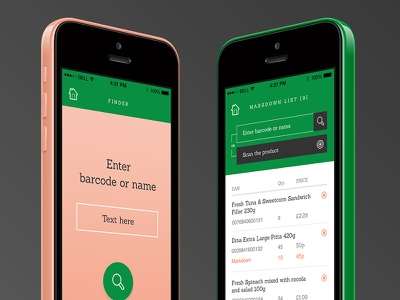 Greeneat App objectivity marta staroń design ux dashboard application