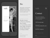 Mobile for photographer porfolio
