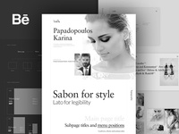 Photographer Karina portfolio - webdesign presentation
