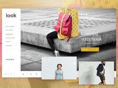 Look - magazine for fashion enthusiasts fashion staron marta design webdesign look