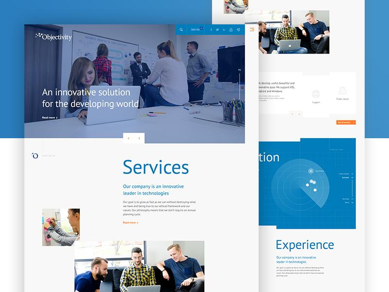 New Objectivity website mainpage website webdesign design objectivity