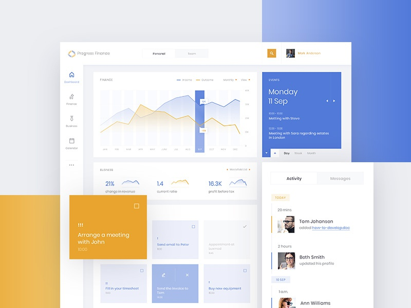 Finance App karbowska objectivity design app finance dashboard ux ui