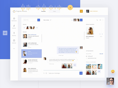 The Messenger ux ui animation ui dashboard chat finance app messenger