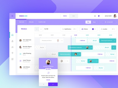 Scheduling appointments app dashboard ux ui