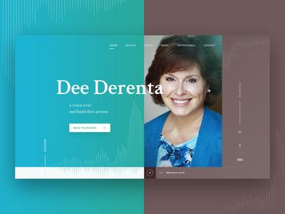 Dee Derenta - the voice over artist webdesign