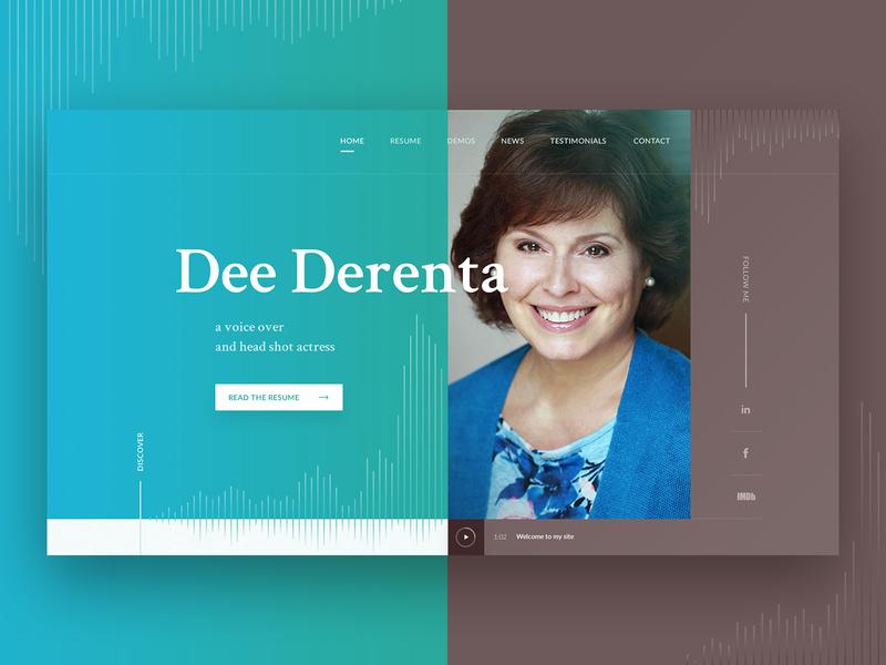 Dee Derenta - the voice over artist webdesign by Marta