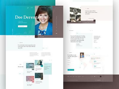Dee Derenta - the voice over artist final webdesign brown teal web webdesign ui design