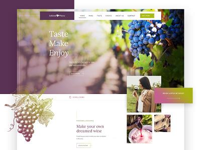 The Landlake Winery - hero section web winery ux design webdesign