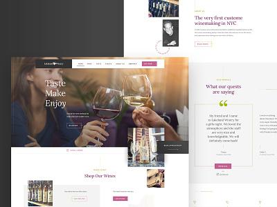 E-commerce Web Design Project for Wine Company web webdesign ui design